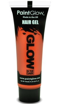 Gel para el Pelo Naranja Glow in the Dark